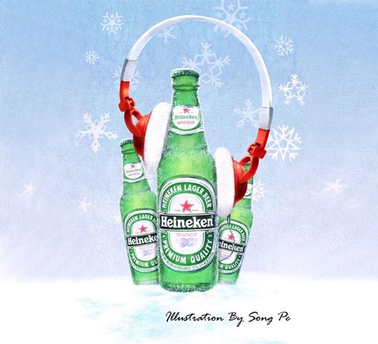 My Heineken Poster Illustration