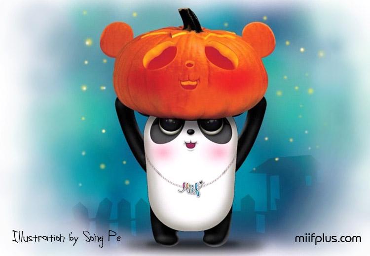 Digital illustration of Panta celebrate Hallowing for miifplus.com